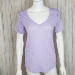 Lululemon Purple V-neck Tee